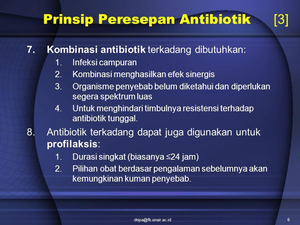 Prinsip Peresepan Antibiotik [3]